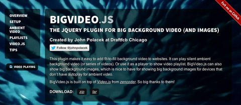 Big Video JS Project Page